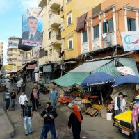 Egypte, rue typique dans la ville dAlexandrie, Александрия