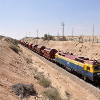 Cargo Train northbound from Tzefa Plant near Dimona - Luca Berardocco, Димона