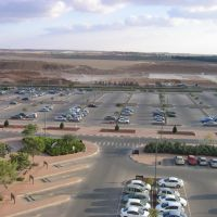 View from Intel FAB18 roof, south direction. Vehicle parking before building FAB28., Кирьят-Гат