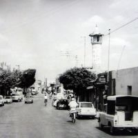 ISRAËL, Lod: main road through the old village 1966  ישראל, Лод