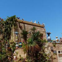 Дом с фигурами на крыше., Натания