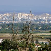 Rosh HaAyin and Tel Aphek, a view from Hod HaSharon, Рош-ха-Аин