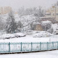 Snowing in Ariel on December 13, 2013, Ариэль