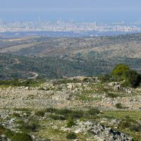 Ramat Gan and Tel Aviv from a top of Ariel, Ариэль