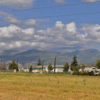 Вид на запад, горы, Кирьят-Шмона