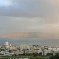 A rainbow over the Sea of Galilee, Тверия