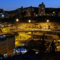 The Carmel Tunnels and Derech Rupin, a night view from Abba Hillel Silver, Haifa (26-MAR-11), Хайфа