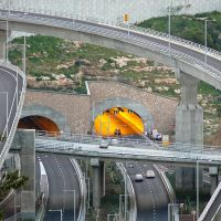 The Carmel Tunnels, a view from Abba Hillel Silver, Haifa (26-MAR-11), Хайфа