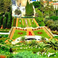 Baháí World Centre Garden, Mt. Carmel, Haifa, Israel, Хайфа