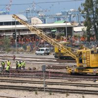 Haifa, Maintaining works in the trains railway, Haifa East railway station 10, Israel, Хайфа