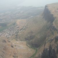 Flying low over the Arbel Mountain, Мигдаль аЭмек