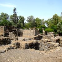Israel. Ancient Katsrin Park. Restored 3rd-century Jewish village, Кацрин