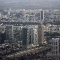 Tel Aviv Central from above, Гиватаим