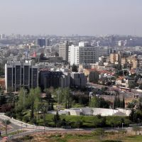 Bar Ilan University and Givat Shmuel, view from Condo Tower, Кирьят-Оно