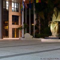 A statue by night, The Sason Hogi Tower, 12 Abba Hillel Silver, Ramat-Gan, Рамат-Ган