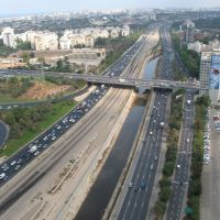 ayalon traffic Tel Aviv, Тель-Авив