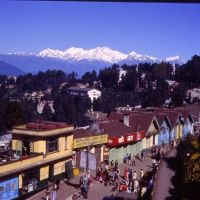 Darjeeling Hill Station in West Bengal.Himalayan Mountains in the background., Даржилинг
