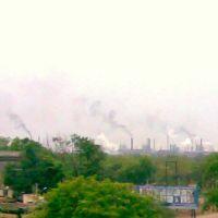 BHILAI STEEL PLANT(Distant view from Flyover), Pic 1, Бхилаи металлургического завода , изображения с эстакады (фото № 1), Bhilai de acero de la planta, la vista distante desde el paso elevado 1, भिलाई इस्पात संयंत्र (दूरी प्रतिच्छाया १), Бхилаи