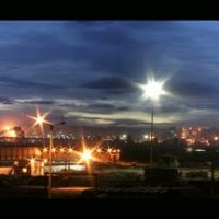 A beautiful panaromic evening view of JSW Steel plant., Давангер