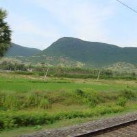 Nearing Vizianagaram Junction, View from Train, Визианагарам