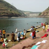 Srisailam-Mallikarjun : Pilgrims at Krishna River, Вияиавада