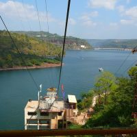 Ropeway to Pathala Ganga at Srisailam Reservoir, Проддатур