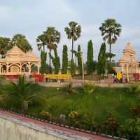 View of Maharshi Santsevi Samadhi Sthal from bridge in Ashram, Бхагалпур