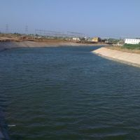 Beautiful Narmada canal near Surendranagar, Сурендранагар