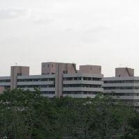 Satpura Bhawan viewed from Arera Telephone Exchange, Bhopal, Бхопал