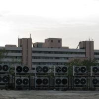 Vindhyachal Bhawan viewed from Arera Telephone Exchange, Bhopal, Бхопал