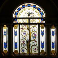 Glass window : Jai Vilas Palace ©Anupam, Мау