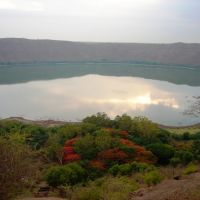 LONAR LAKE.  it is has the only lake in India that is created out of hypervelocity meteorite impact., Малегаон