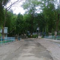 Path at the Gorotto od Our Lady of Lourdes, Nagpur, Нагпур