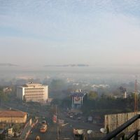VIEW OF SATARA CITY - INDIA - Foggy Morning -2009, Сатара