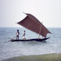 Traditional boat, Orissa, Пури