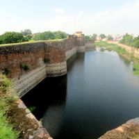 Lohagarh fort wall in North, Bharatpur,Raj., India, Альвар