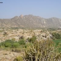 Granitlandschaft ca. 10 km westlich Beawar (Rajasthan), Бивар