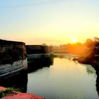 Sunrise and Beauti of Moad of Bharatpur Fort, Bharatpur, Бхаратпур
