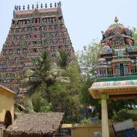 DSC08001 ஸ்ரீ ஆதி கும்பேஸ்வரர்  கோயில் श्री आदि कुम्बेश्वर मंदिर- Arulmigu Aadhi Kumbeswarar Temple from N.E., Кумбаконам