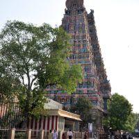 Meenakshi Sundareswarar Temple or Meenakshi Amman Temple. Madurai, India., Мадурай
