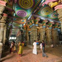 Interior del templo Sri Meenakshi 1, Мадурай