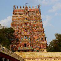 Madurai,  Gopuram du temple Minakshi dans le Tamil Nadu (Inde du Sud)., Мадурай