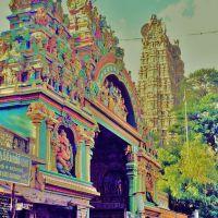 Madurai - Haupteingang zum Menakshitempel und Ost-Gopura, Мадурай