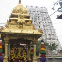 Golden Chariot at Arunachaleshwara Temple, Tiruvannamalai, Tamil Nadu, Тируваннамалаи