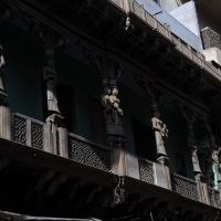 Agra,old city - balcony, Агра