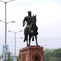 Agra, statue of the Maharaja Shivaji, Агра