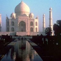 One of the many wonders of the world.The Taj Mahal in Agra., Агра