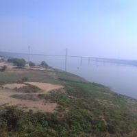 River Yamuna at Allahabad from train, Аллахабад