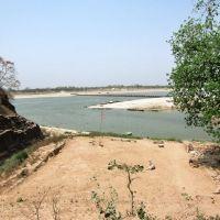 Mirzapur the Ganges near the floating bridge., Мирзапур
