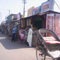 Shops in front of Bus Station, Moradabad, Морадабад